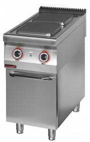 Kuchnia elektryczna 2 płytowa 450 mm 2x4,0 kW na podstawie szafkowej zamkniętej