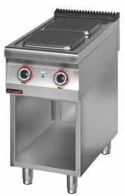 Kuchnia elektryczna 2 płytowa 450 mm 2x4,0 kW na podstawie szafkowej otwartej