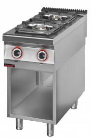 Kuchnia gazowa 2 palnikowa 1x4,5kW + 1x7,5kW na podstawie szafkowej otwartej