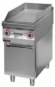 Płyta grillowa elektryczna gładka chromowana 450 mm 6,0kW na podstawie szafkowej zamkniętej
