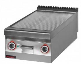 Płyta grillowa elektryczna ryflowana chromowana 450 mm 6,0kW
