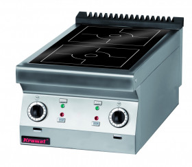 Kuchnia indukcyjna 450 mm 2x5,0 kW
