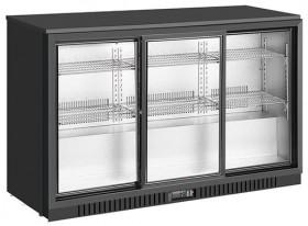 Barowa szafa chłodnicza | chłodziarka podblatowa RQ-330SC | 325l | drzwi przesuwne