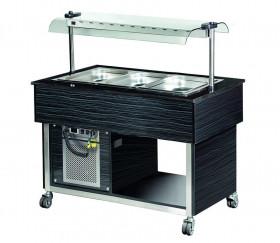 Wózek bufetowy chłodniczy MBC811B -Linia Premium | 1250x800x1355 | 3GN1/1