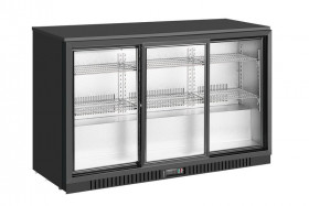 Barowa szafa chłodnicza | chłodziarka podblatowa LG-330SC | 325l | drzwi przesuwne