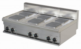Kuchnia elektryczna nastawna ER731K-S   6-płytowa   15,6 kW   linia 700