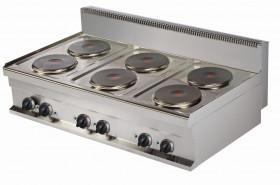 Kuchnia elektryczna nastawna ER731-S   6-płytowa   15,6 kW   linia 700