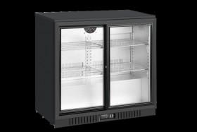 Barowa szafa chłodnicza | chłodziarka podblatowa LG-208SC | 205l | drzwi przesuwne