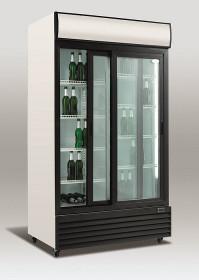 Szafa chłodnicza przeszklona SD1001SL | 1000l | drzwi przesuwne
