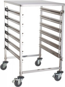 Wózek na pojemniki GN - pełny blat TRL - 6 GN B