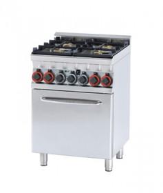 Gastronomiczna Kuchnia gazowa zpiekarnikiem el. CFM4 - 66 GEM