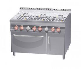 Gastronomiczna Kuchnia wodna gazowa z piekarnikiem i szafką CFA6 - 912 GV