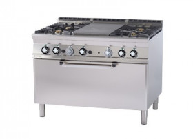 Kuchnia żeliwna zpiekarnikiem elektrycznym TPF4 - 912 GE