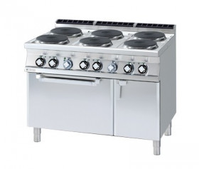 Kuchnia elektryczna zpiekarnikiem CFV6 - 912 ETV