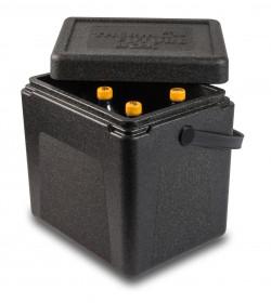 Pojemnik termoizolacyjny, czarny z uchwytem, V 20 l