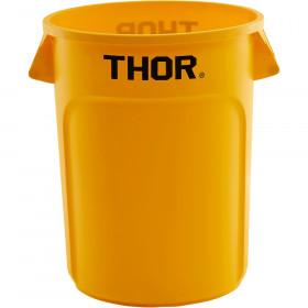 Pojemnik uniwersalny na odpadki, Thor, żółty, V 120 l