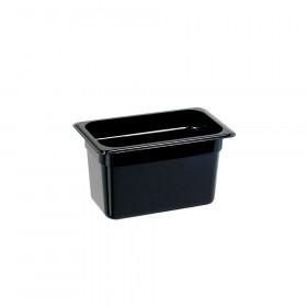 Pojemnik GN 1/4 150 mm, czarny poliwęglan