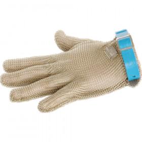 Rękawica stalowa niebieska L