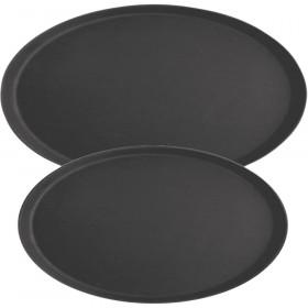 Taca kelnerska antypoślizgowa czarna 600x735 mm