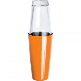 Shaker bostoński pomarańczowy ze szklanką