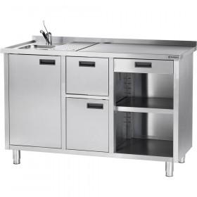 Stół pod ekspres do kawy z ociekaczem i umywalką Stalgast 486710