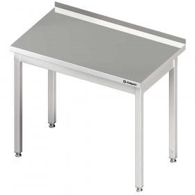 Stół nierdzewny z rantem od ściany, bez półki 600x600x850 mm skręcany