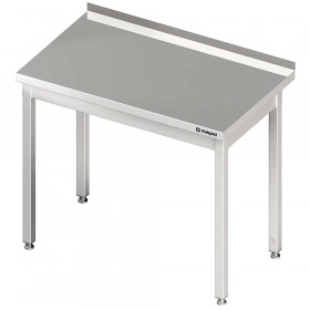 Stół nierdzewny przyścienny bez półki 1200x700x850 mm skręcany