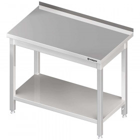 Stół nierdzewny przyścienny z półką 1500x700x850 mm skręcany
