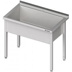 Stół nierdzewny z basenem 1-komorowym, spawany 600x600x850 mm h=300 mm