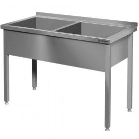 Stół z basenem 2-komorowym spawany 1200x600x850 mm h=300 mm