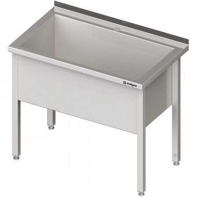 Stół nierdzewny z basenem 1-komorowym spawany 800x700x850 mm h=400 mm