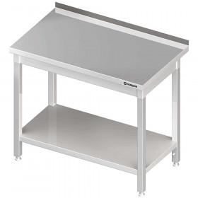 Stół gastronomiczny nierdzewny przyścienny z półką 1200x600x850 mm spawany