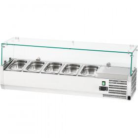 Witryna chłodnicza z szybą 5xGN 1/4 1200X35X435 mm z szybą