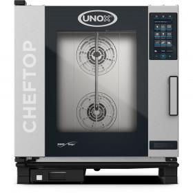 Piec konwekcyjno-parowy UNOX 7xGN1/1 ChefTop Mind.Maps plus gazowy 19 kW
