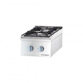Kuchnia nastawna gazowa 2 palnikowa 400x700 8,5 kW - G20
