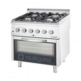 Gastronomiczna Kuchnia gazowa 4 palnikowa z piekarnikiem elektrycznym 20.5kW (zestaw) - G30