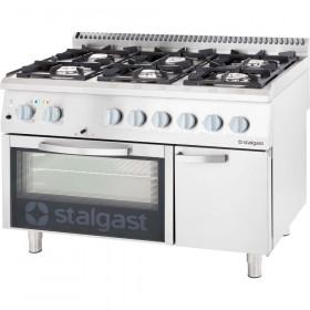 Gastronomiczna Kuchnia gazowa 6 palnikowa z piekarnikiem elektrycznym 36.5kW - G30