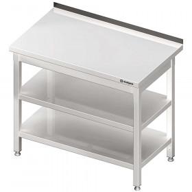 Stół przyścienny z 2-ma półkami 1700x600x850 mm spawany