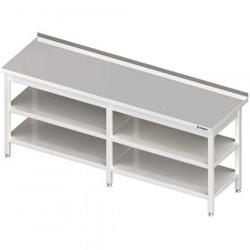 Stół przyścienny z 2-ma półkami 2000x600x850 mm spawany