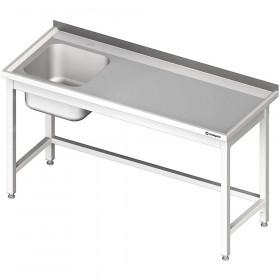 Stół ze zlewem 1-kom.(L),bez półki 1800x700x850 mm