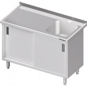 Stół ze zlewem 1-kom.(P),drzwi suwane 1500x600x850 mm