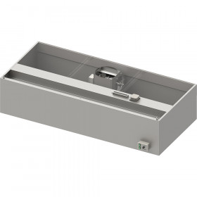Okap przyścienny skrzyniowy ECONOMIC z łap. B,went. E3 i ośw. 2200x900x550 mm (1 segment)