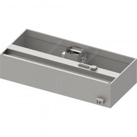 Okap przyścienny skrzyniowy ECONOMIC z łap. B,went. E3 i ośw. 2600x900x550 mm (1 segment)