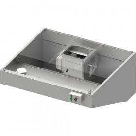 Okap przyścienny skośny ECONOMIC z łap. B,went. E3 i ośw. 2600x900x550 mm (1 segment)