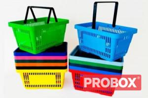 Koszyk sklepowy SAM plastikowy 20L - 2 rączki - DETAL