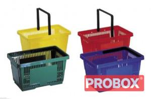 Koszyk sklepowy SAM plastikowy 28L - 2 rączki - DETAL
