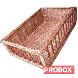 Koszyk na pieczywo wiklinowy z okienkami 40x60x16(H) cm