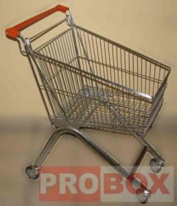 Wózek sklepowy 75 litrów - rura owalna