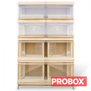 Regał piekarniczy 8 - szufladowy z szufladami z drewna BK