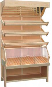 Regał piekarniczy jednostronny z osłoną z plexi PJZP 2100 z drewna BK